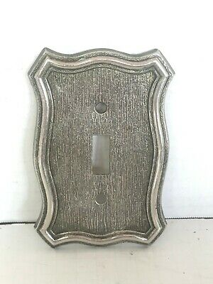 Vintage American Brass Tack Hardware Style Single Toggle Switch Cover Plate