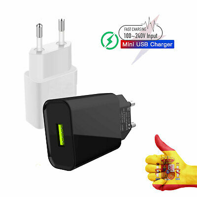 Cargador de pared adaptador corriente 2.A USB para Iphone smartphone Android IOS