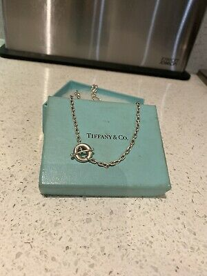 "TIFFANY & Co.Paloma Picasso 20"" Silver Necklace T Bar And Loop Fasten"
