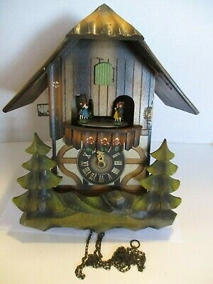Vintage E. Schmeckenbecher Cuckoo Clock For Parts and Repair, West Germany