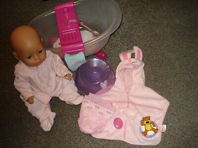 Baby Born Doll interactive bath tub with lights & sound exc condition