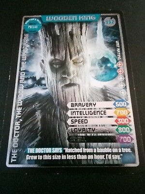 Doctor Who Monster Invasion Ultimate Card Wooden King 392