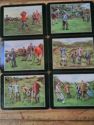Jason Golfing memories scenes very stylish 6x placemats in box
