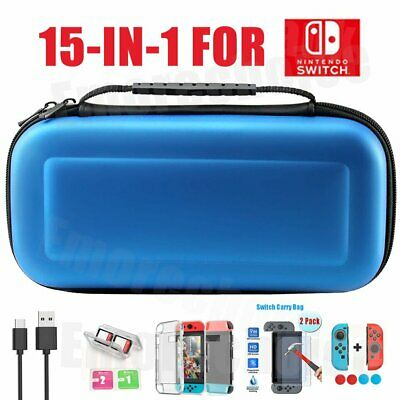 Travel Case Carrying Bag For Nintendo Switch+Cover+Screen Protector Accessories