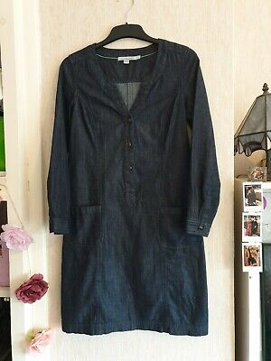 Boden Denim Dress Size 6 R Blue