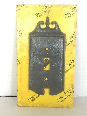 Vintage Colonial Toggle Switch Cover Plate Iron Art Co