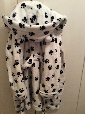 childrens dalmation paw print dressing gown age 5-6