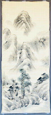 Authentic Antique Chinese Landscape Painting, Gao Ruqiao 高如桥 late Qing dynasty