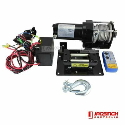 Wireless 3000lbs (1360kg) 12V Electric Steel Cable Winch Boat ATV 4WD Trailer