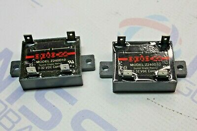 2Pcs Opto 22 Z240D10 Solid State Relay ,3-32Vdc Control