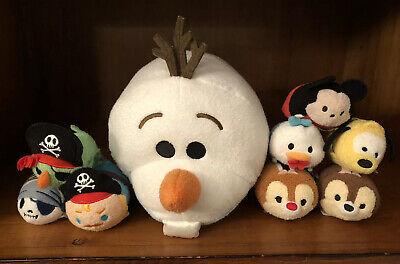 Tsum Tsum Lot - Disney Parks - Olaf Pirates Chip Dale Mickey Donald Goofy 2016