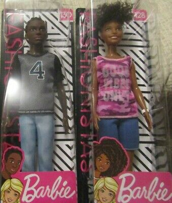 A BLACK ( African American ) BARBIE'S DOLL COUPLE FASHIONISTAS BY MATTEL