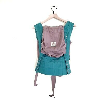 Ergo Baby Carrier Original Teal and Gray Babywearing