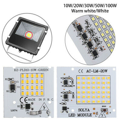 50W 100W 220V Input  Floodlight Smart IC Driver Lamp SMD2835 LED Chip Beads