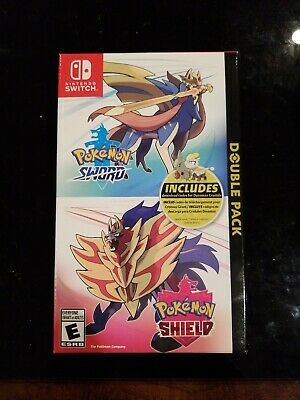 Pokemon Sword and Shield Dual Double Pack Nintendo Switch NEW!
