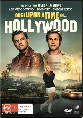 ONCE UPON A TIME IN HOLLYWOOD-Brad Pitt-DVD-Region 4-New AND Sealed