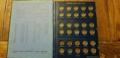 36 cents, 2 Lincoln Cent Albums 1909-1940, 1941- Whitman