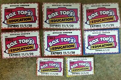 LOT of 8 BOX TOPS for EDUCATION Cut & Trimmed 2020-2021 BTFE