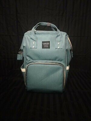 Teal and Silver LAND USA MOMMY AND BABY BAG