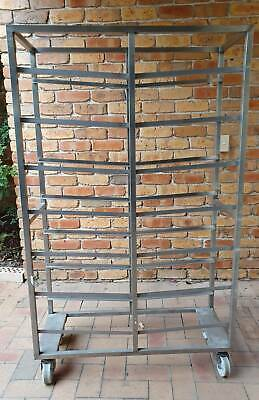 Bakery Pastry Rack or Butchers Meat Rack Trolley - Stainless Steel