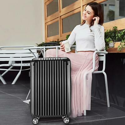 24'' Cabin Hard Shell Travel Trolley Hand Luggage Suitcase Bag Case Black