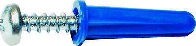 MIDWEST FASTENER 10410 Conical Anchor with Screw, Plastic