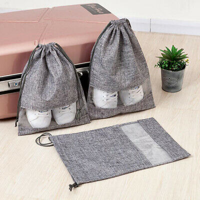 Travel Drawstring Shoe Bags Pouch Sports Dance Storage Dust Proof Bag MA