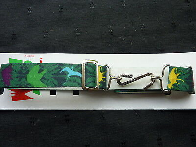 SNAKE BELTS FOR BOYS/CHILDREN/ KIDS - GREEN WITH DINOSAUR MOTIFS- approx. 1-10yr