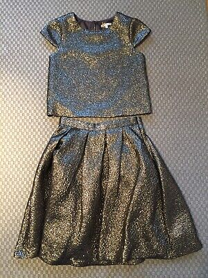 Gold Lame' Skirt And Top Age 11 By John Lewis