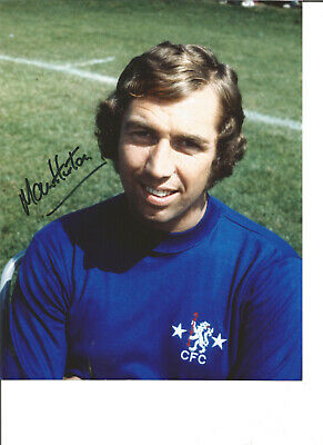 Football Autograph Martin Hinton Chelsea FC Signed 10x8 inch Photograph JM209