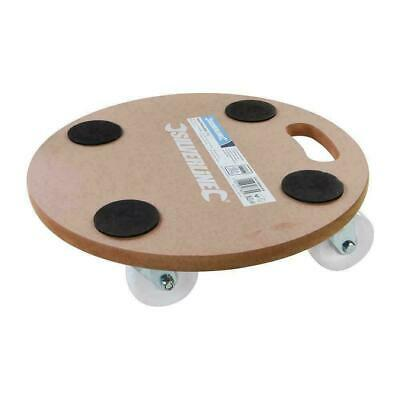 Silverline Wheeled Round Platform Dolly 250kg Load Capacity Home Furniture Mover