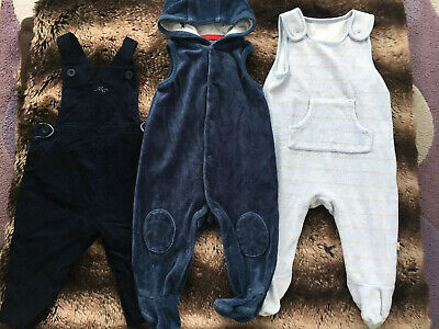 Mothercare Boys Age 3-6 Months Dungarees X3