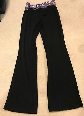Justice Girls Size Sz 12 Leggings Black Dance Wide Leg Sweat Pants Girl's Dance
