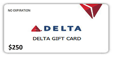 $250 Delta Airlines Gift Card - (No Expiration)