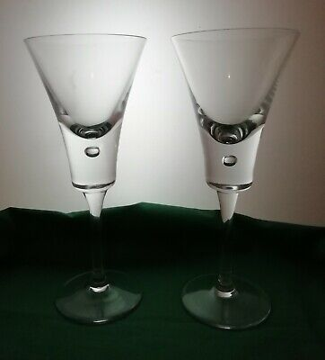 A pair of contemporary hock glasses. (197)