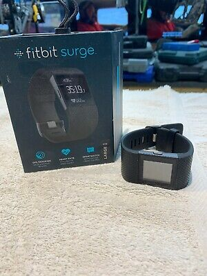 FITBIT SURGE LARGE Size GPS Activity Tracking Fitness Watch ...