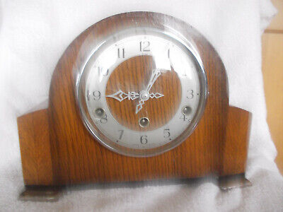 ENFIELD WESTMINSTER CHIME MANTEL CLOCK SOLD AS SPARES OR REPAIR, no key