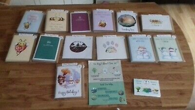 Greetings Cards, Vegan, Recyclable, Original Designs, Job Lot of 47 cards