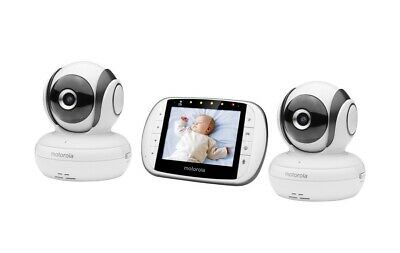 Motorola MBP36S-2 Video Baby Monitor With 2 Cameras Barely Used in Original Box