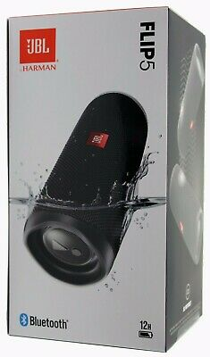 JBL Flip 5 Waterproof Portable Rechargeable Bluetooth Speaker- Black *FLIP5BLK