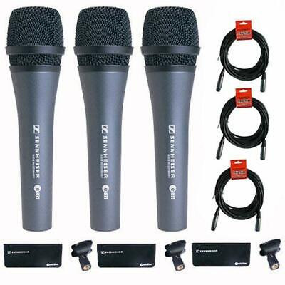 Sennheiser 3x e-835 Wired Cardioid Handheld Dynamic Lead Vocal Stage Microphone