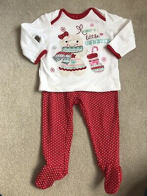 George Girls Christmas Outfit Age 6-9 Months