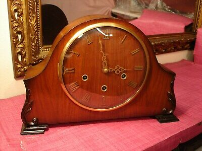 Magnificent English Mahogany cased, Westminster Chiming, mantel clock.
