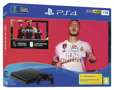Sony Playstation PS4  1TB Console & FIFA 20 Bundle Jet Black BRAND NEW & SEALED