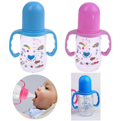 1Pc 125ml baby feeding nipple bottle infant milk water baby bottle with hand RTC