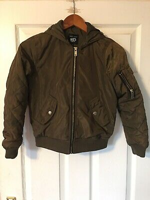 NEW LOOK ( 915 Generation ) girls green bomber jacket age 9 years
