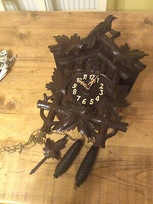 Antique Black Forest Cuckoo Clock (country House Condition)