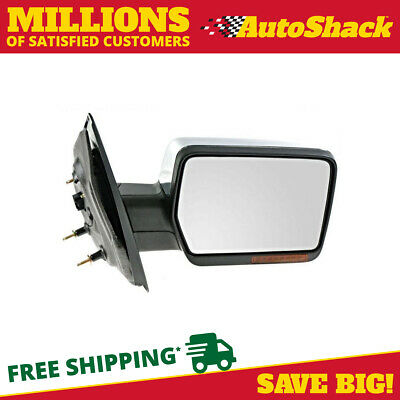 Chrome Power Heated Signal Passenger Right Side Mirror for 2004-2006 Ford F-150
