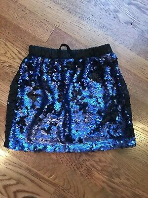 Rockets of Awesome Girl's Navy Elastic waist Sequin Skirt Size 6/7  Free Ship