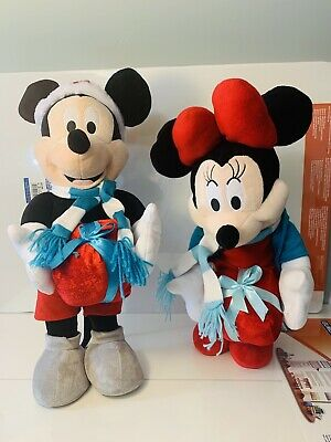 """Disney Mickey Mouse Christmas Decoration Standing Doll 22/"""" Tall New"""